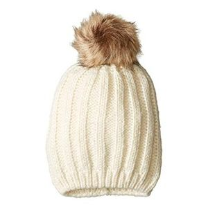 ~ HAT ATTACK Hat with Faux Fur Pom NEW ~